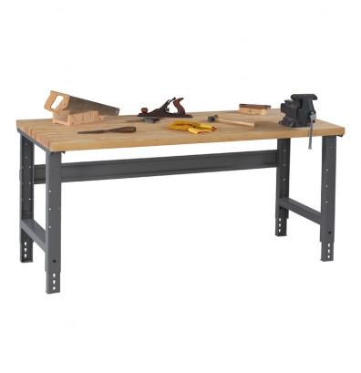 Tennsco Solid Hardwood Top Adjustable Leg Workbenches