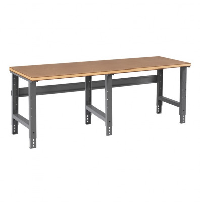 Tennsco WBA-1-3696C Compressed Wood Top Adjustable Leg Workbench (96" W x 36" D x 27-7/8" - 35-3/8" H)