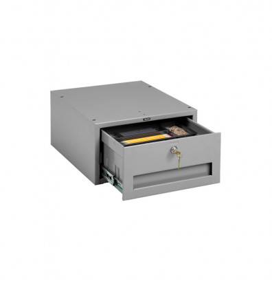 Tennsco WBD-1LMG Stackable Drawer with Cam Lock Installed (medium grey only)
