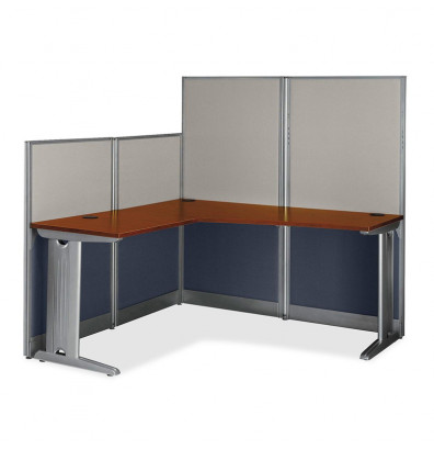 "Bush Office-in-an-Hour WC36494 65"" W L-Shaped Workstation"