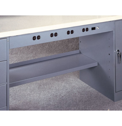 Tennsco WOP-42 Electronic Outlet Panel for Modular Electronic Workbenches - Shown in Medium Grey