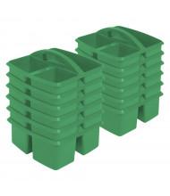 ECR4Kids Small Art Caddy Classroom Storage Tray Set, Green, 12 Pack