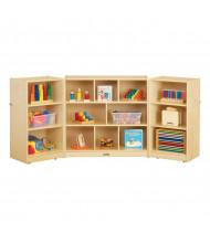 Jonti-Craft Mobile Triple Fold-n-Lock Classroom Storage Unit