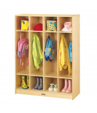 Jonti-Craft 4-Section Cubbie Coat Locker