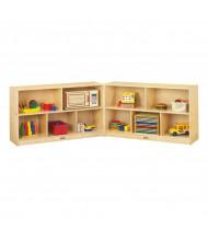 Jonti-Craft Low Mobile Fold-n-Lock Classroom Storage Unit