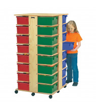 Jonti-Craft 32 Tub Tower Cubbie Storage Unit with Colored Tubs