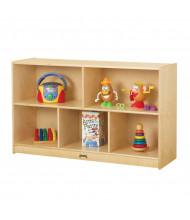 "Jonti-Craft Low Single 15"" Deep Mobile Classroom Storage Unit (example of use)"
