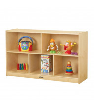 """Jonti-Craft ThriftyKYDZ Low Single 15"""" Deep Mobile Classroom Storage Unit (example of use)"""