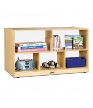 Jonti-Craft Low Plexi Back Single Mobile Classroom Storage Unit