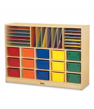 Jonti-Craft Sectional Cubbie-Tray Mobile Classroom Storage Unit with Colored Trays