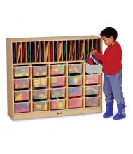 Jonti-Craft Cubbie Classroom Organizer with Clear Trays