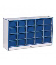 Jonti-Craft Rainbow Accents 20 Cubbie-Tray Mobile Classroom Storage with Trays (blue)