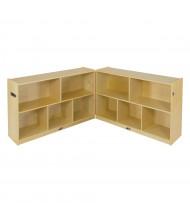 "ECR4Kids Birch Fold & Lock 5-Section 30"" H Classroom Storage Cabinet"