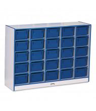 Jonti-Craft Rainbow Accents 25 Cubbie-Tray Mobile Classroom Storage with Trays (blue)
