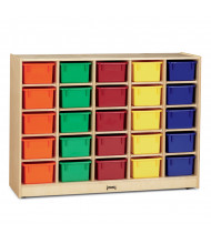 Jonti-Craft 25 Cubbie-Tray Mobile Classroom Storage with Colored Trays