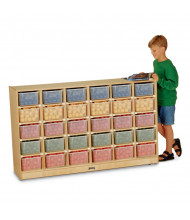 Jonti-Craft 30 Cubbie-Tray Mobile Classroom Storage with Clear Trays