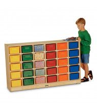 Jonti-Craft 30 Cubbie-Tray Mobile Classroom Storage with Colored Trays