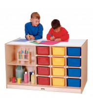 Jonti-Craft Mobile Cubbie Classroom Island Storage (Front Shown, Trays Not Included)