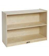 ECR4Kids Birch 2-Shelf Classroom Storage Cabinet with Back