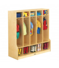 Jonti-Craft 5-Section Cubbie Coat Locker with Step