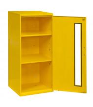 "Durham Steel 14"" W x 13"" D x 30"" H Spill Control Storage Cabinet (Shown in Yellow)"