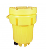 Ultratech 0584 Overpack Plus Wheeled Poly Drum, 95 Gallons, Yellow