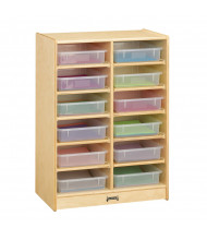 Jonti-Craft 12 Paper-Tray Mobile Classroom Storage with Clear Paper-Trays