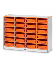 Jonti-Craft Rainbow Accents 24 Paper-Tray Mobile Classroom Storage (Shown in Orange, Trays Sold Separately)