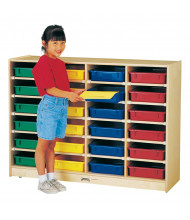 Jonti-Craft 24 Paper-Tray Mobile Classroom Storage with Colored Paper-Trays