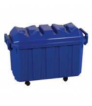 ECR4Kids 18-Gallon Stackable Mobile Classroom Storage Trunk, 4-Pack (Shown in Blue)
