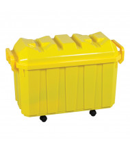 ECR4Kids 18-Gallon Stackable Mobile Classroom Storage Trunk, 4-Pack (Shown in Yellow)