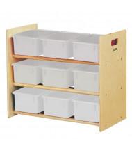 Jonti-Craft Cubbie-Tray Classroom Storage Rack with Clear Cubbie-Trays