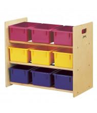 Jonti-Craft Cubbie-Tray Classroom Storage Rack with Colored Cubbie-Trays