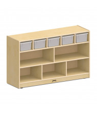 Jonti-Craft Low Combo Mobile Classroom Storage Unit with Clear Bins