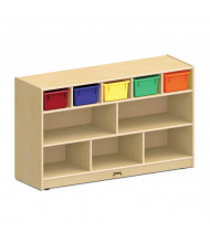 Jonti-Craft Low Combo Mobile Classroom Storage Unit with Colored Bins