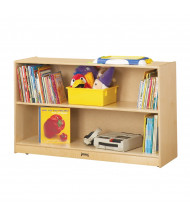 Jonti-Craft Low 2-Shelf Adjustable Mobile Classroom Bookcase (example of use)