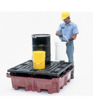 Ultratech 0803 Spill King with Flat Deck Pallet and Drain (example of application)