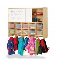 Jonti-Craft 10-Section Wall Mount Cubbie Coat Locker with Storage, Clear Trays