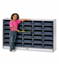 Jonti-Craft Rainbow Accents 30 Paper-Tray Mobile Classroom Storage with Paper-Trays (Shown in Navy)