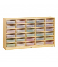 Jonti-Craft 30 Paper-Tray Mobile Classroom Storage with Clear Paper-Trays