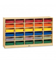 Jonti-Craft 30 Paper-Tray Mobile Classroom Storage with Colored Paper-Trays