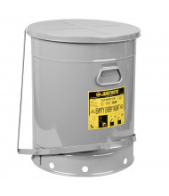 Justrite 09704 Foot-Operated Soundgard 21 Gallon Oily Waste Safety Can, Silver