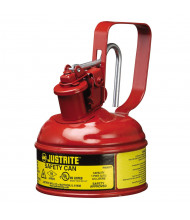 Justrite 10001 Type I 1 Pint Trigger Handle Steel Safety Can, Red