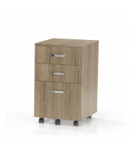 Mayline 1008 Mobile Box/Box/File Mobile Pedestal Cabinet (Shown in Natural)