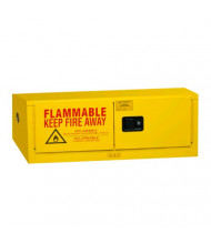 """Durham Steel 1012MH-50 19"""" W x 44"""" D x 19"""" H Horizontal Two Door Flammable Safety Cabinet, 12 Gallon"""