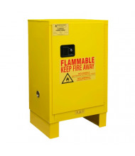 "Durham Steel 1012ML-50 18"" W x 23"" D x 41"" H One Door Flammable Safety Cabinet with Legs, 12 Gallon"