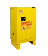 "Durham Steel 1012SL-50 19"" W x 24"" D x 42"" H One Self Close Door Flammable Safety Cabinet with Legs, 12 Gallon"