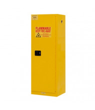 "Durham Steel 1022M-50 19"" W x 24"" D x 65"" H One Door Flammable Safety Cabinet, 22 Gallon"