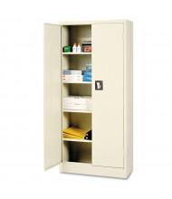 """Alera CM6615PY 30"""" W x 15"""" D x 66"""" H Space Saver Storage Cabinet in Putty, Assembled"""