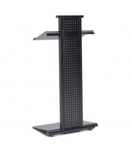 Mayline Peripherals Height Adjustable Lighted Mobile Lectern, Black